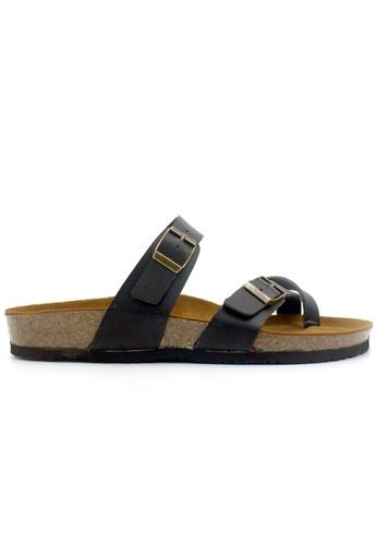 SoleSimple 黑色 Dublin - 黑色 百搭/搭帶 軟木涼鞋 E4E76SH4CC929DGS_1