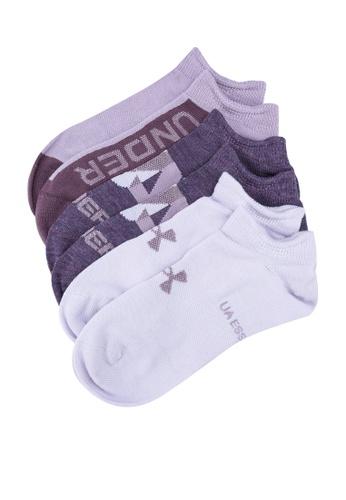 Under Armour purple Essential No-Show 3-Pack Socks D95A5AC45128EBGS_1