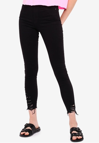 hot sale new release another chance Black Ripped Hem Jamie Jeans