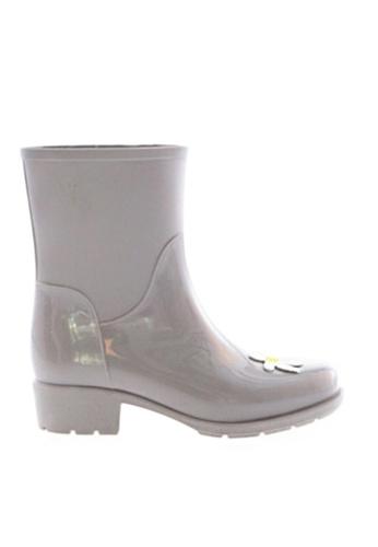 Twenty Eight Shoes 灰色 甜心圖案短雨靴MM8211 7BDC6SH941DA48GS_1