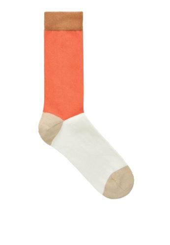 COS beige Colour-Block Socks 06BDCAAE84F4EEGS_1