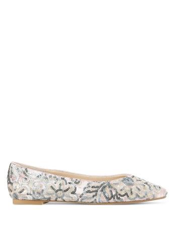 ZALORA pink Sequin Embroidered Ballet Flats B7D90SHBB2D89CGS_1