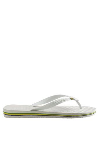 Havaianas white Brasil Flip Flops HA021SH05UNQPH_1