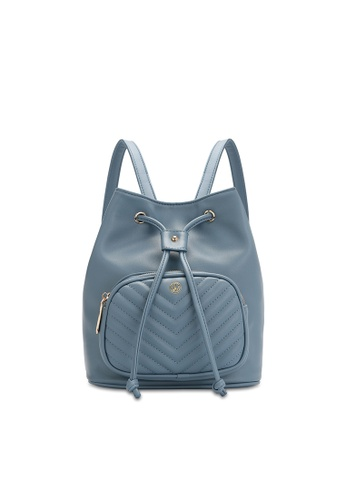 Volkswagen blue Faux Leather Convertible Backpack C6D2AAC0997047GS_1