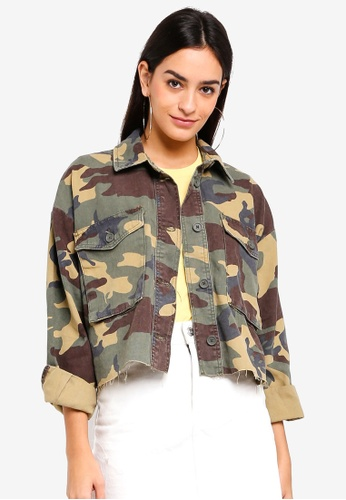 TOPSHOP 褐色 Dark Camouflage Shacket C98C1AA29A6B3FGS_1