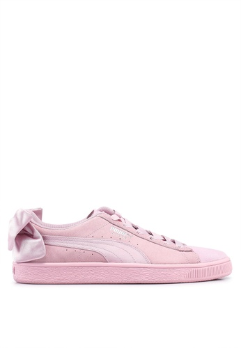 ce8eb52e0e6b7f Puma pink Sportstyle Prime Suede Bow Galaxy Women s Shoes 0533DSHC4BE200GS 1