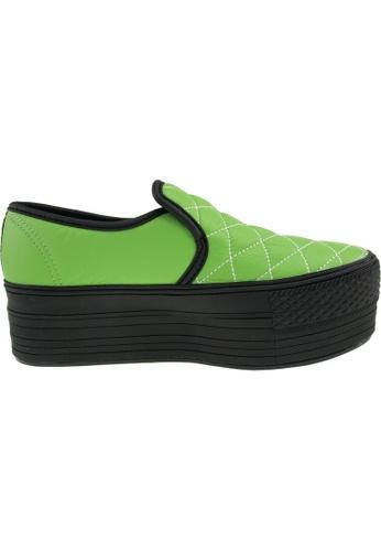 Maxstar green Maxstar Women's C50 Stitched Platform PU Slip On Shoes US Women Size MA164SH82FMRSG_1
