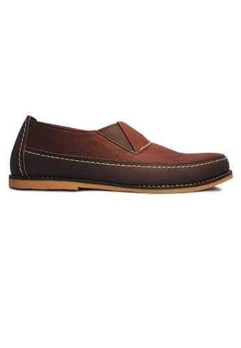 D-Island brown D-Island Shoes Slip On Moccasine Rajut Leather Brown DI594SH66AKFID_1