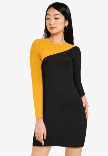 ZALORA BASICS multi Colour Blocked Mini Dress 2CE08AA30AA586GS_1