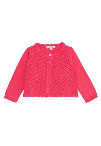 Du Pareil Au Même (DPAM) pink Knit Cardigan 7F2AEKAF8A343DGS_1