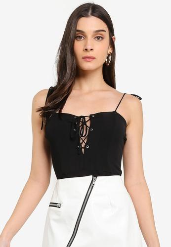 Glamorous black Lattice Bodysuit BE7D9AA7B45633GS_1