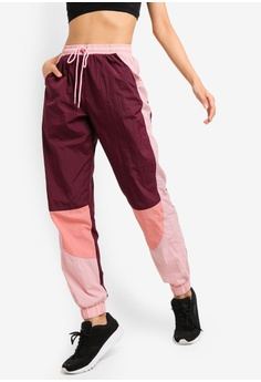 bbeedc35ebe7e Cotton On Body brown and red Crinkle Trackpants 27B78AA26E4E05GS 1