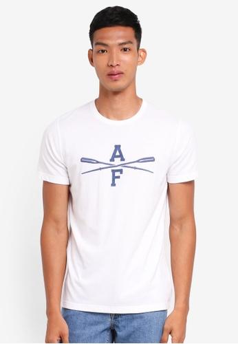 Abercrombie & Fitch white Brand Logo T-Shirt 7F12DAA42E3E50GS_1
