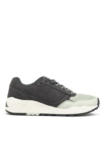 撞色超細纖esprit taiwan維復古跑鞋, 鞋, 運動鞋