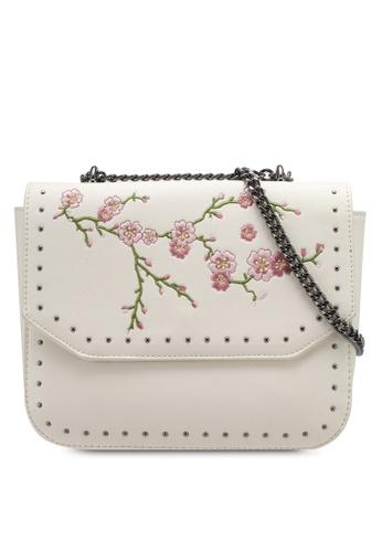 Something Borrowed beige Cherry Blossom Studded Chain Sling B4895ACD44B59EGS_1