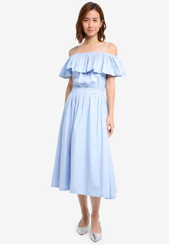 ZALORA blue Cami Midi Dress CEC64AAEED6231GS_1