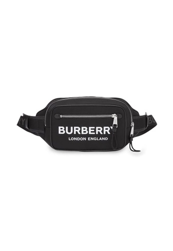 Burberry black Burberry Logo Print ECONYL® Waist Bag in Black for UNISEX 73DADACB95F5EFGS_1