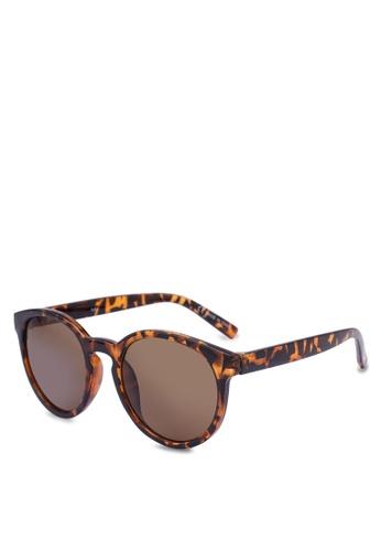 Rubi brown Rollin Round Sunglasses 411A4GL2E1CBE5GS_1