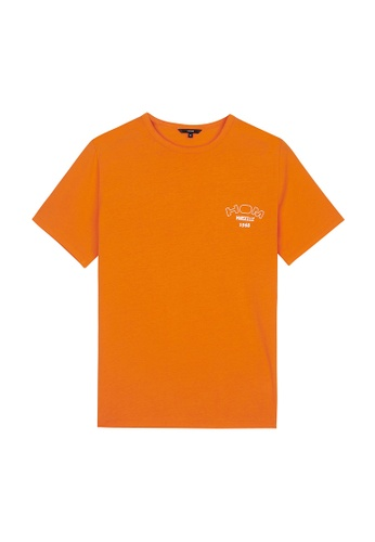 HOM red and orange Victor T-Shirt Crew Neck - Red Orange F2E5BAA40BB9C8GS_1