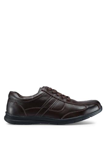 Bata 褐色 蕾絲綁帶鞋 69B16SHFA205BBGS_1
