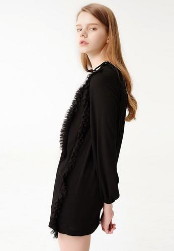 LOVE 二入褶飾雪紡連身裙, 服飾zalora時尚購物網評價, 洋裝