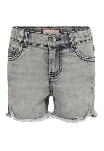 ONLY grey Fine High Waist Grey Denim Shorts 82CE4KA7536A8BGS_1