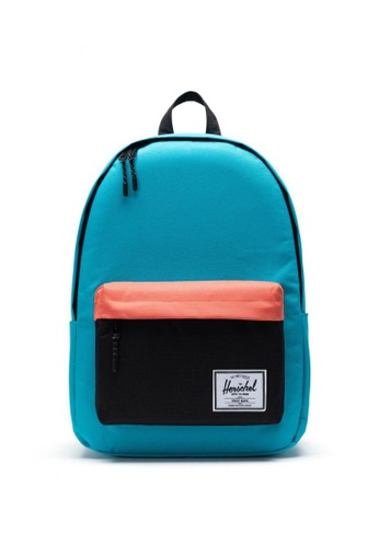 Herschel black and orange and blue Classic Backpack - XL 4B795ACF080C94GS_1