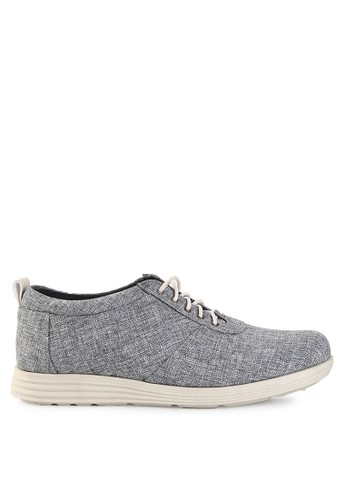 NIEL grey Vigor Synthetic Kanvas NI227SH0VCI4ID_1
