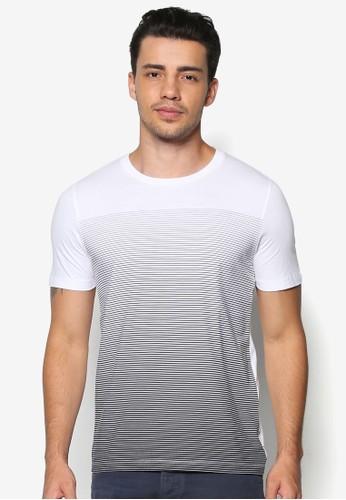 Surya 漸層條紋TEesprit官網E, 服飾, T恤