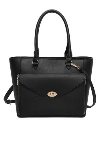 Milliot & Co. black Aria Sling Bag 101DCACFB6BDC2GS_1