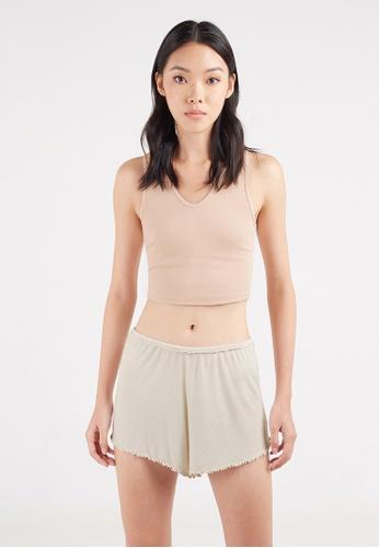 Gen Woo white Lounge Shorts by Gen Woo CB612AA01B37BAGS_1