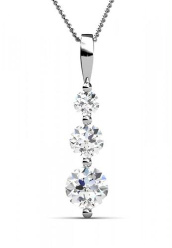 Her Jewellery silver Swarovski® Zirconia -Journey Pendant (18K White Gold Plated) Her Jewellery HE581AC0RDJ4MY_1