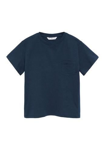 MANGO KIDS blue Organic Cotton Pocket T-Shirt CE7C7KA19B3650GS_1