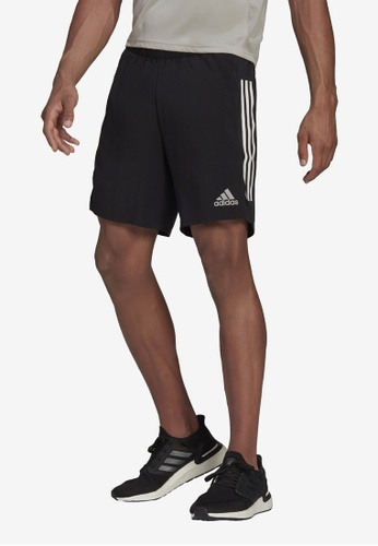 ADIDAS black own the run 3-stripes shorts 9BCD7AAABE544EGS_1