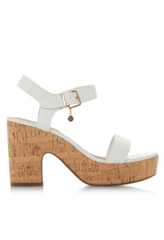bcd0b96ca Dune London white Two Part Demi Heels D44C9SH9C977F1GS 1