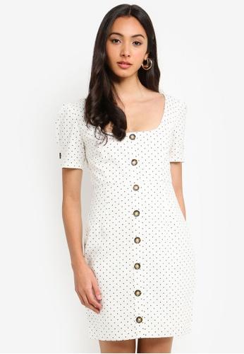 Bardot white Spot Button Dress DF3D3AA59A95C1GS_1