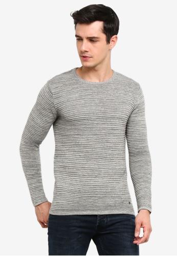 !Solid 灰色 Struan 混色針織Sweater D3589AA1196ADFGS_1