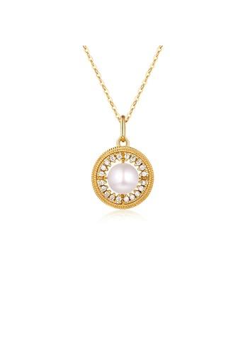 SUNSET gold Premium 9K Gold Pearl Necklace 70B92AC8B47260GS_1