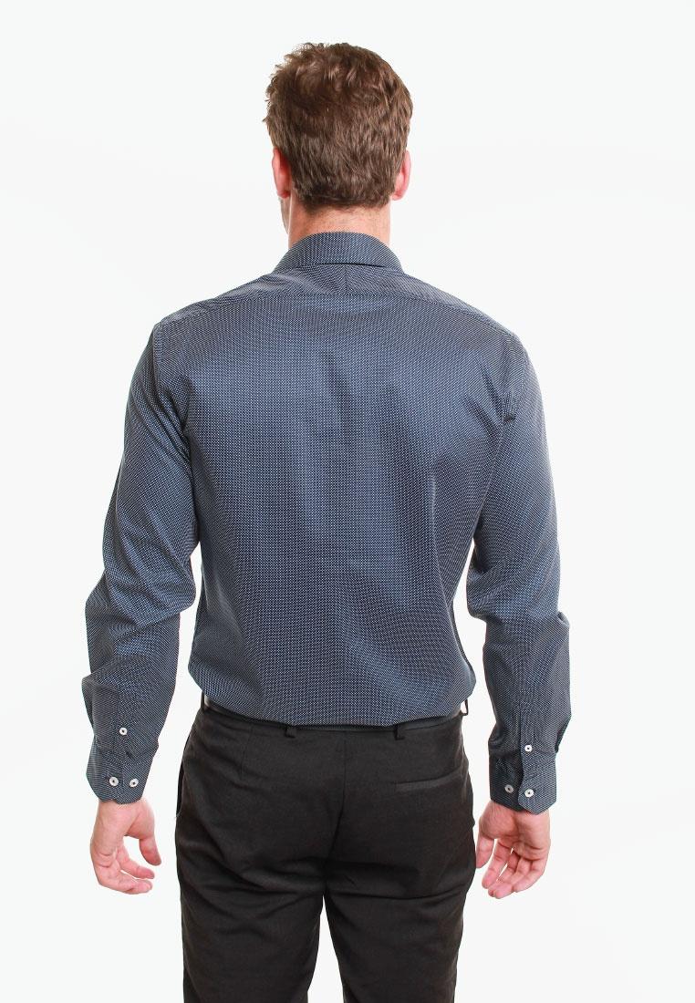 M T M Fit Navy Print Dot T LEWIN Navy Lewin White Slim Shirt pfUx6v