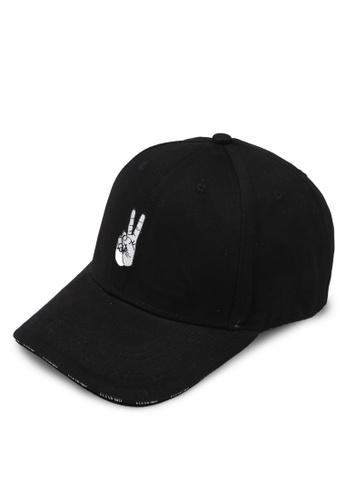 Flesh IMP black Harmony Peace Strapback Hat 188FEACDC5243EGS_1