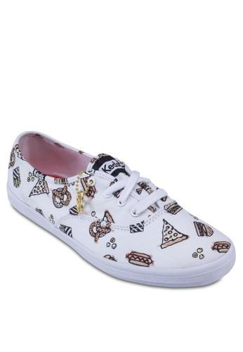 食物圖案斜紋運動鞋, esprit 旺角女鞋, 鞋