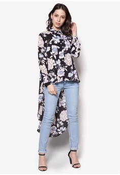 Printed Fishtail Top