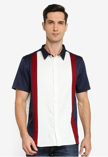ZALORA BASICS multi Colour Block Relaxed Shirt 4C783AAF1E63E1GS_1