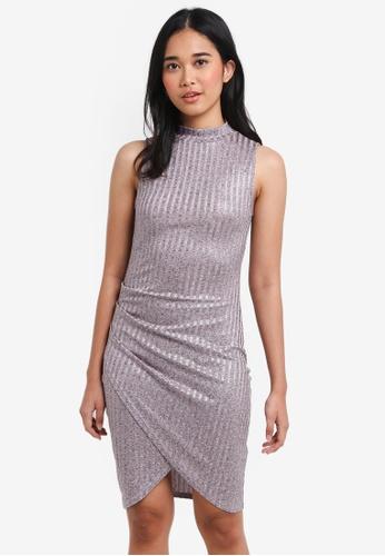 Something Borrowed pink Wrap Rib Bodycon Dress 539D7AAC1719EDGS_1