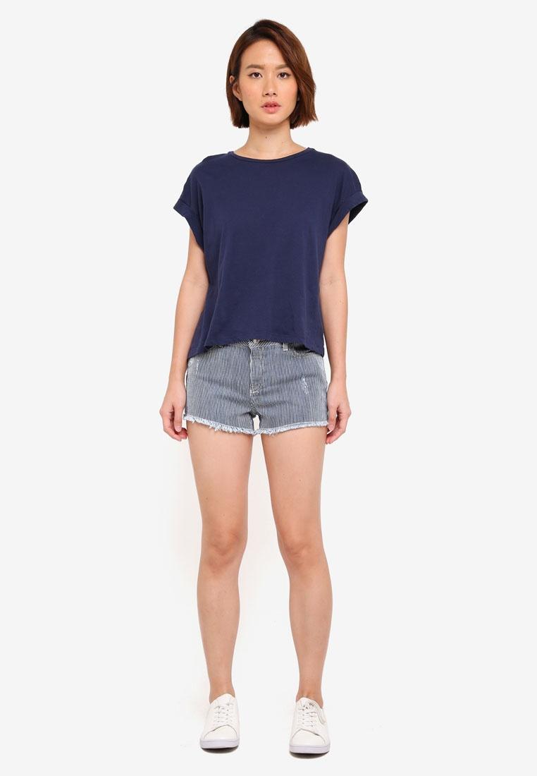 Epp Striped Blue Miss Selfridge Shorts PYRUw