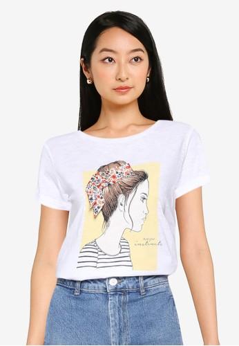 Springfield white Bow Girl T-Shirt D5EA2AA5283F99GS_1