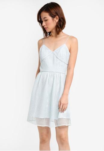 ZALORA blue Crochet Knit Mini Dress E6B5AAA2E162A6GS_1