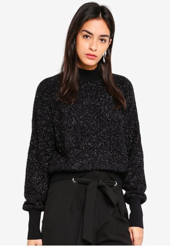 Y.A.S black Bene Knit Pullover 209A2AA457359CGS_1