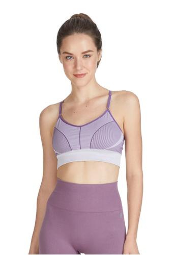 6IXTY8IGHT purple Eilish, Circular Knit Sports Bra BR09848 4CE9FUS7BE0468GS_1