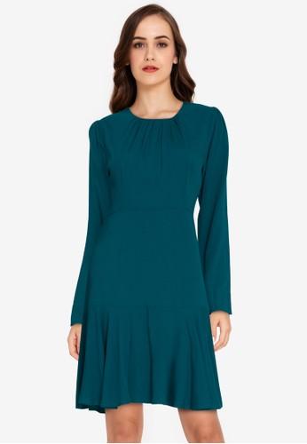 ZALORA WORK blue Blouson Mini Dress 867E8AA84C843CGS_1